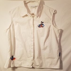 DISNEY ALOHA SLEEVELESS BLOUSE SZ XL
